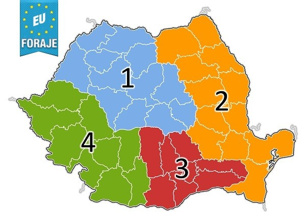 zonele de dezvoltare ale Romaniei EUforaje