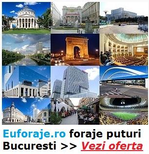 Foraje puturi in Bucuresti si Ilfov