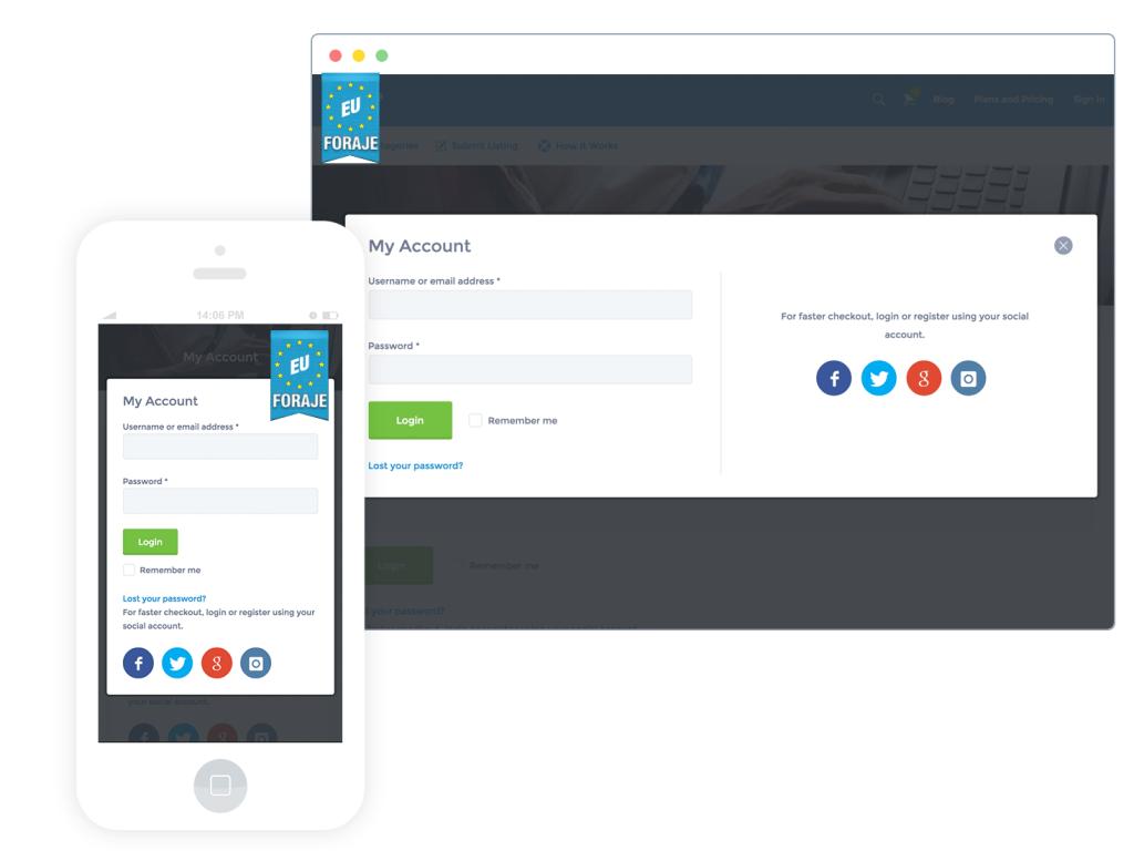 creare cont utilizator pentru firma de foraje