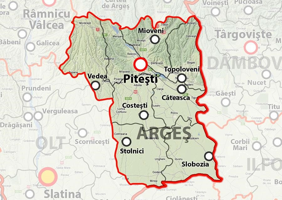 Harta Judetul Arges Euforaje Ro