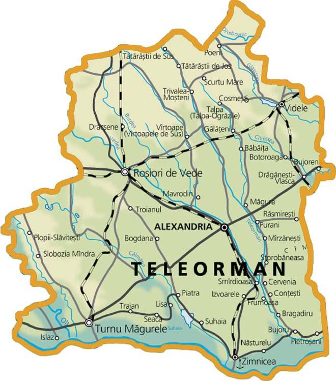 Foraje puturi pentru apa judetul Teleorman