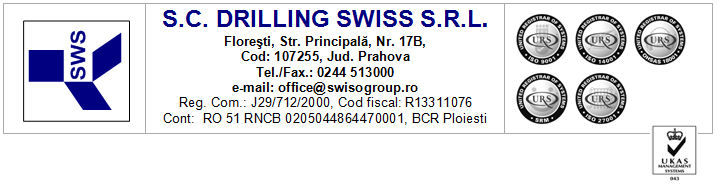 Drilling Swiss SRL foraje puturi apa